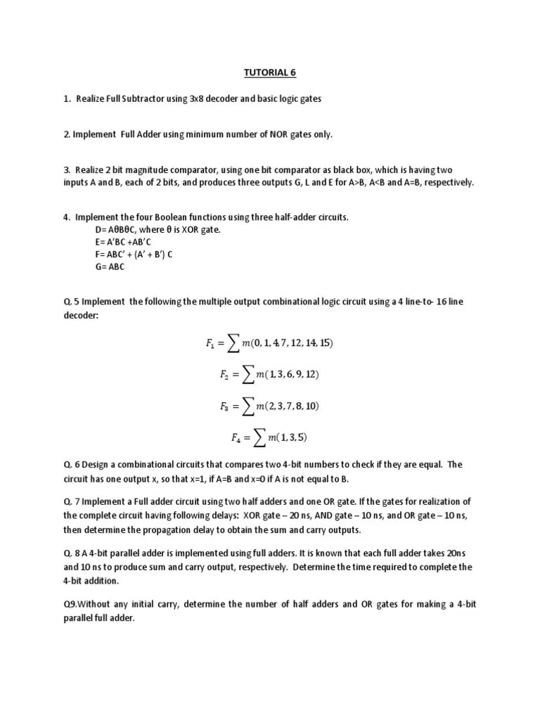 medium resolution of tutorial 6 electrical circuits areas of computer science chapter 4 combinational logic