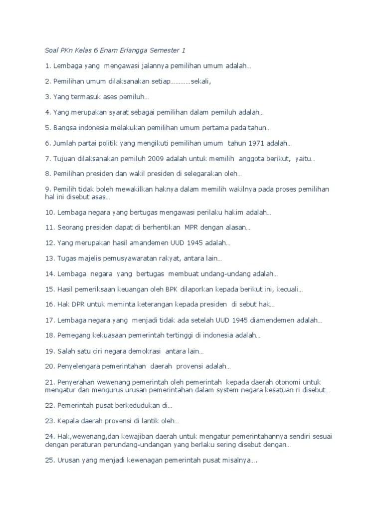 Hak Dpr Untuk Meminta Keterangan Kepada Presiden Disebut : untuk, meminta, keterangan, kepada, presiden, disebut, Soal-dan-Kunci-Jawaban-PKn-Kelas-6-Enam-Erlangga-Semester-1-Bagian-2