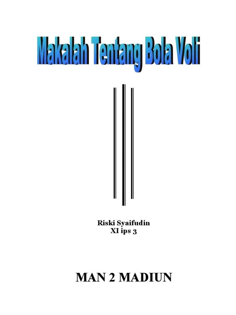 Makala Bola Voli : makala, Makalah