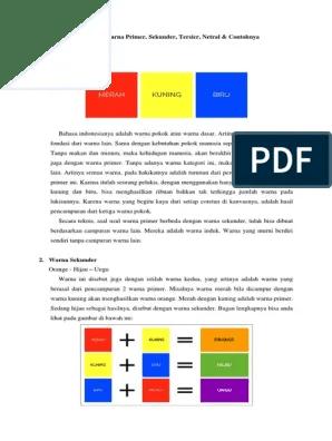 Pengertian Warna Primer Dan Sekunder : pengertian, warna, primer, sekunder, Pengertian, Warna, Primer