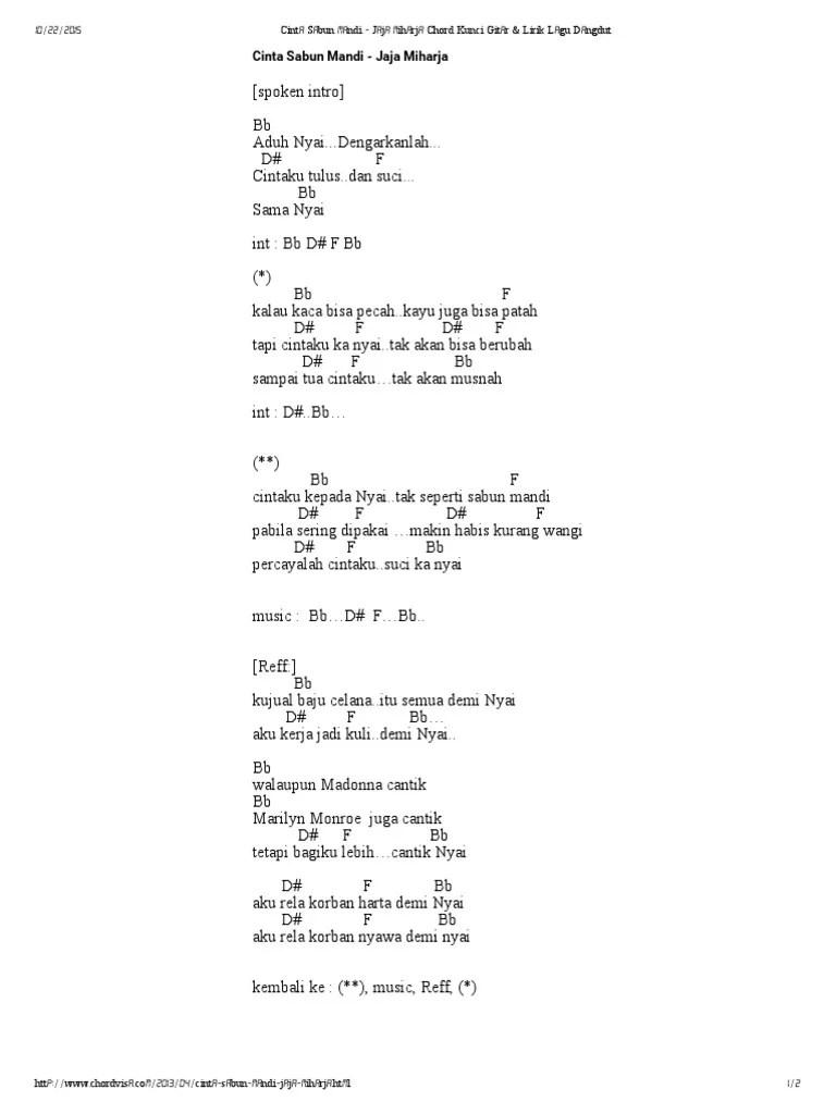 Lirik Lagu Demi Nyai : lirik, Cinta, Sabun, Mandi, Miharja, Chord, Kunci, Gitar, Lirik, Dangdut.pdf