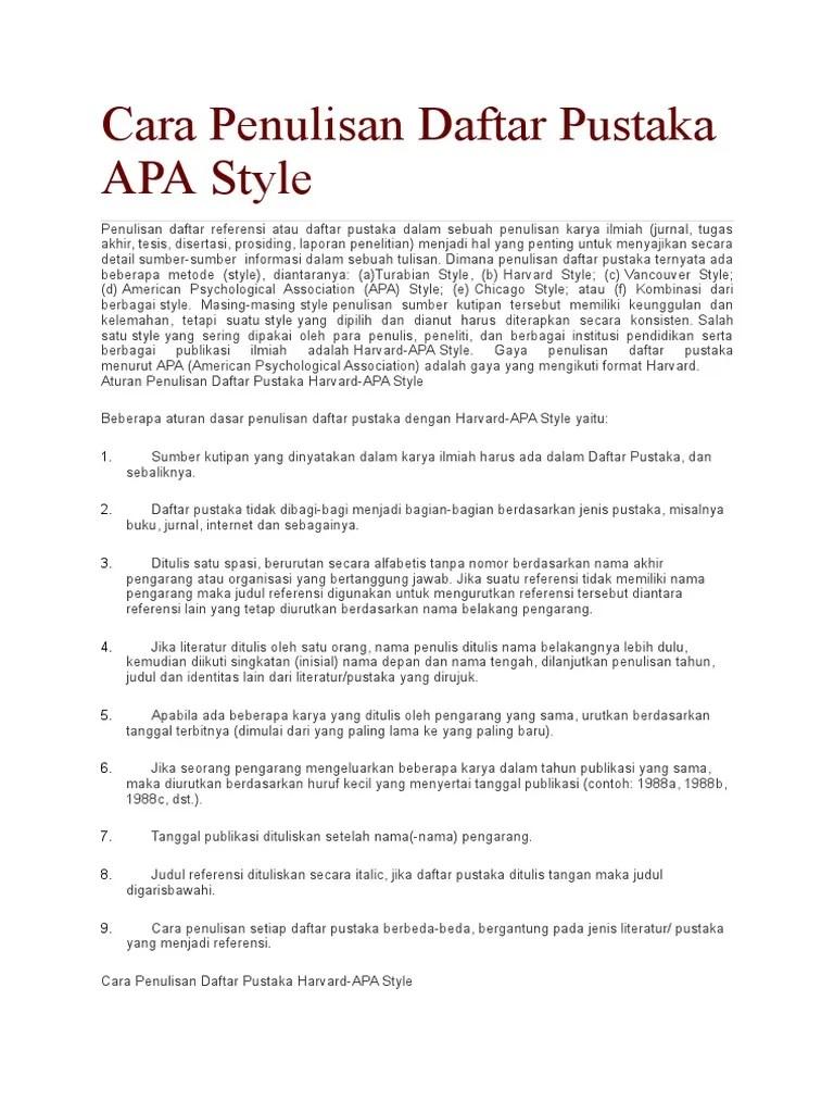 Cara Menulis Daftar Pustaka Dari Web Internet : menulis, daftar, pustaka, internet, Penulisan, Daftar, Pustaka, APA.docx