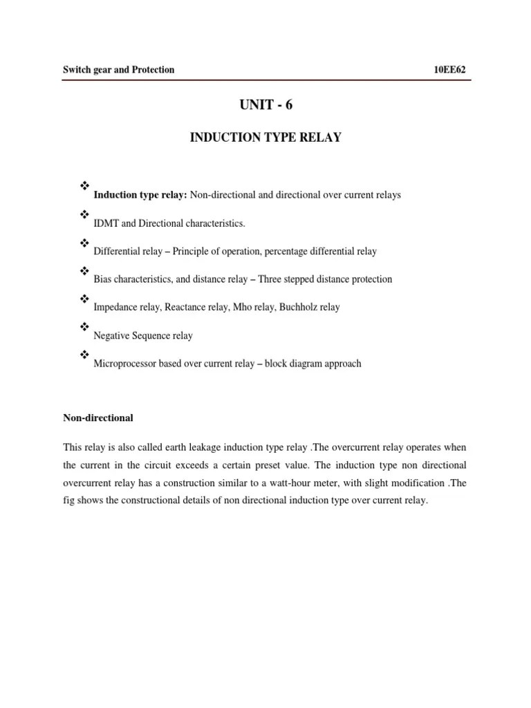 small resolution of 31 non directional over current relays docx electromagnetic induction 19 views