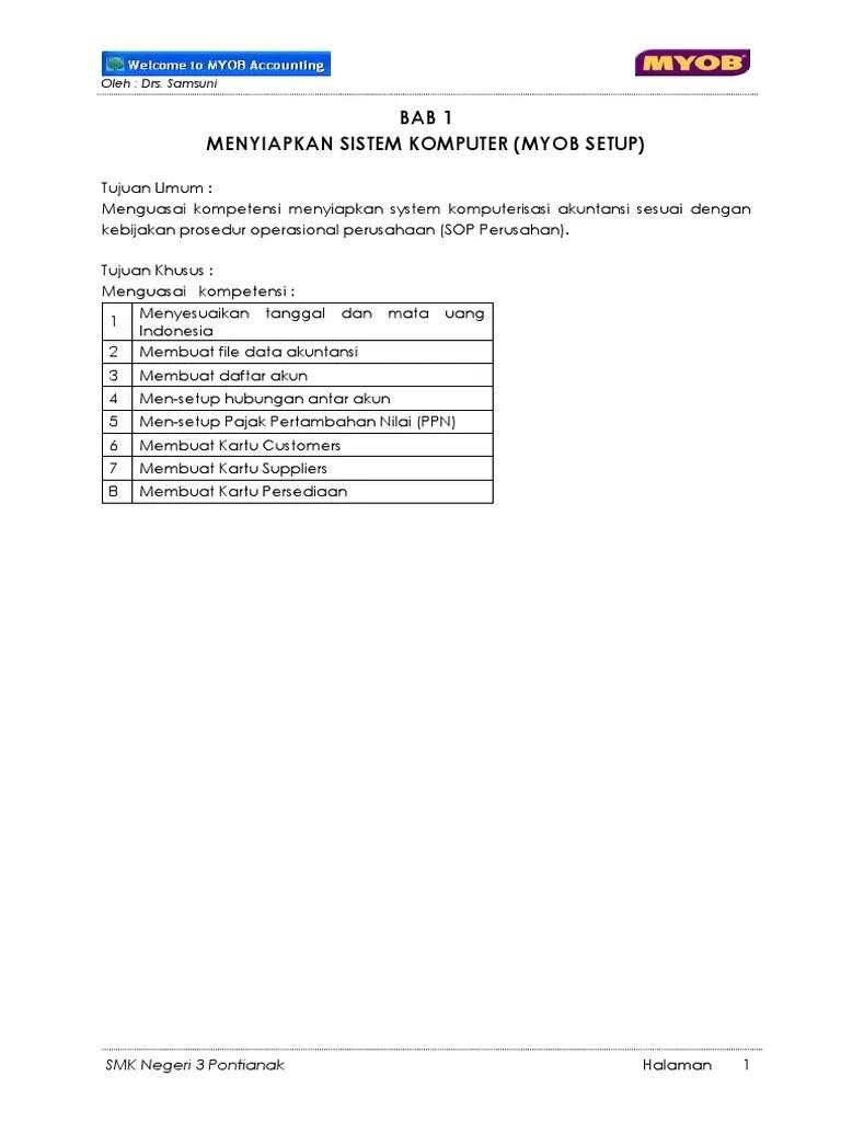 Daftar Akun Myob : daftar, VERSI, ED.pdf