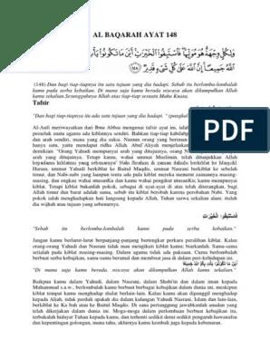 Arti Surah Al Baqarah Ayat 148 : surah, baqarah, Baqarah