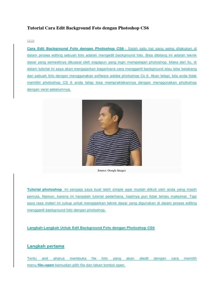 Cara Mengganti Background Di Photoshop Cs6 : mengganti, background, photoshop, Mengganti, Background, Dengan, Photoshop, Gallery
