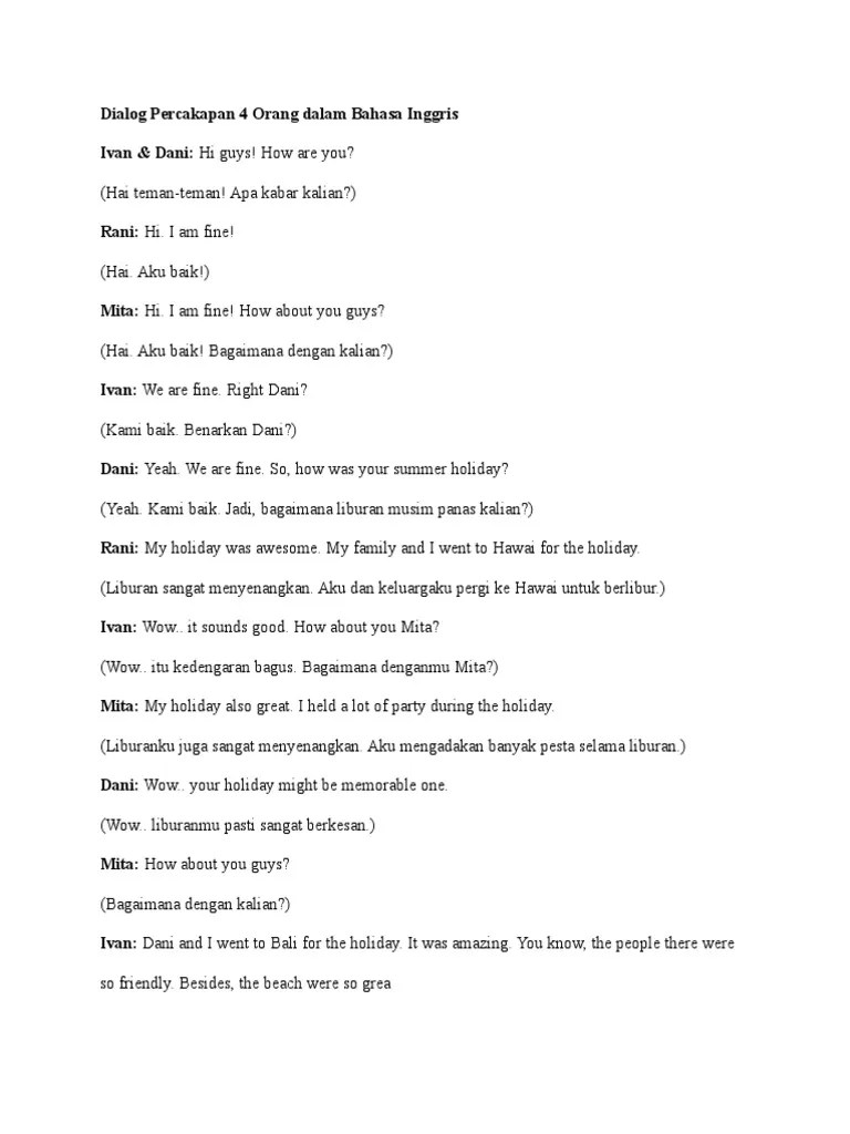 Dialog Bahasa Inggris Tentang Liburan : dialog, bahasa, inggris, tentang, liburan, Dialog, Percakapan, Orang, Dalam, Bahasa, Inggris, Languages, Southeast