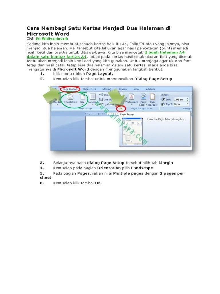 Cara Membagi Dua Halaman Word : membagi, halaman, Membagi, Berbagai, Penting