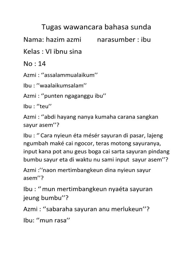 Contoh Wawancara Bahasa Sunda : contoh, wawancara, bahasa, sunda, Wawancara, Bahasa, Sunda