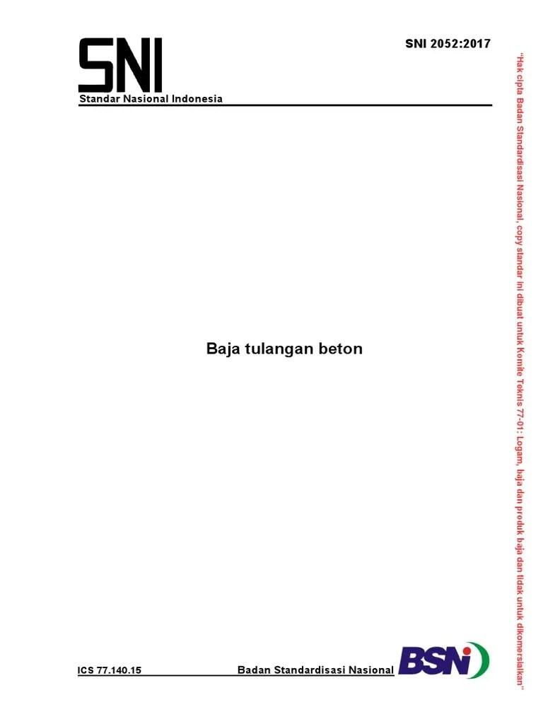 baja ringan in english sni 2052-2017