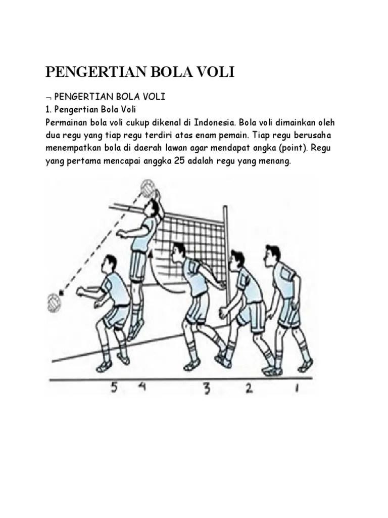 Point Bola Voli : point, PENGERTIAN, VOLI.docx