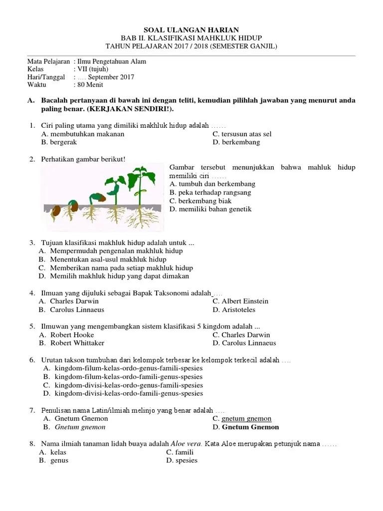 Klasifikasi Makhluk Hidup 5 Kingdom : klasifikasi, makhluk, hidup, kingdom, Contoh, Jawabannya, Klasifikasi, Makhluk, Hidup, Kelas, Sekolahmuonline, Cute766