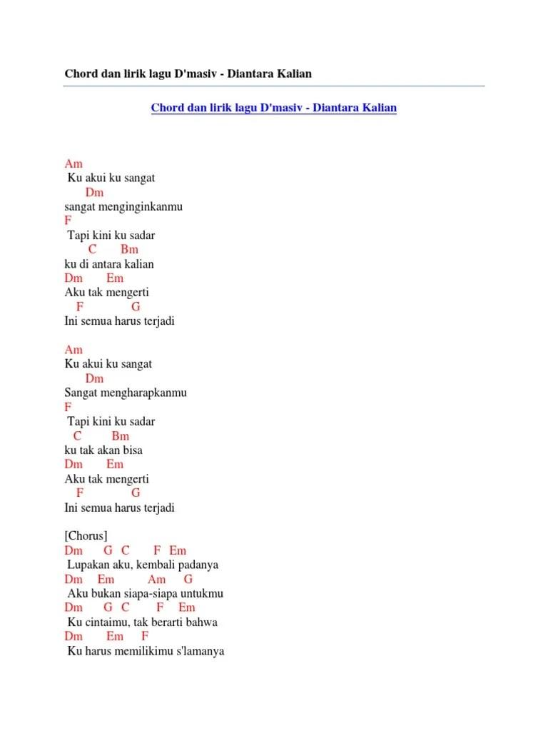 Chord Dmasiv Diantara Kalian : chord, dmasiv, diantara, kalian, Chord, Lirik, D'Masiv, Diantara, Kalian
