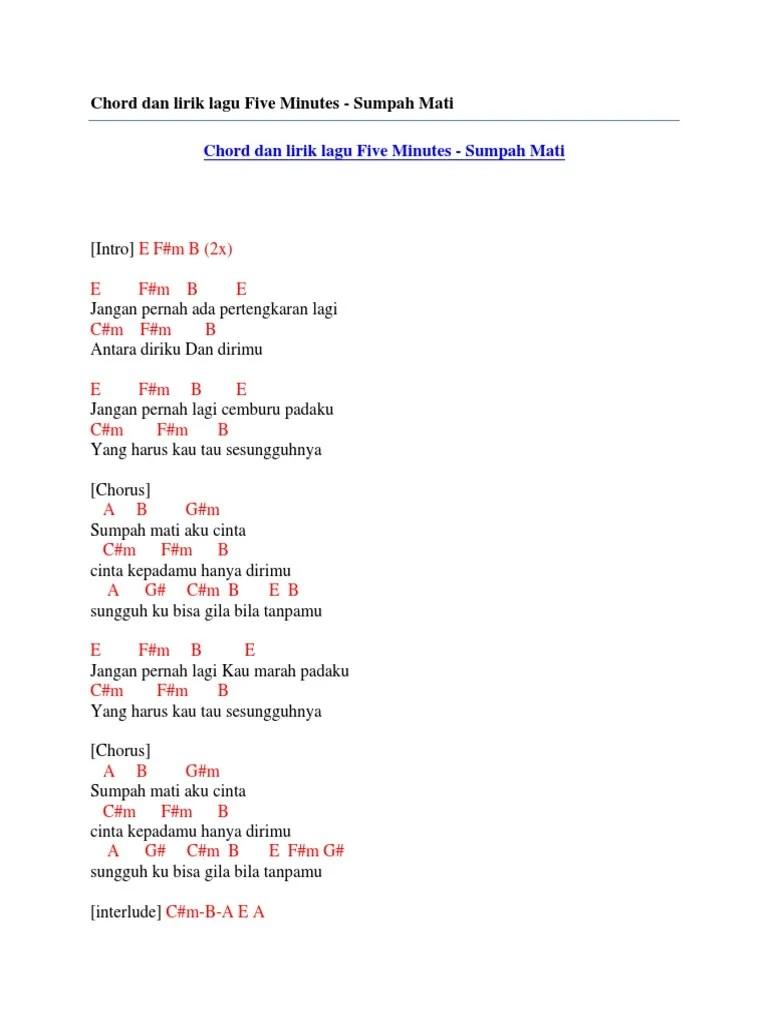 Lirik Sumpah Ku Mencintaimu : lirik, sumpah, mencintaimu, Chord, Lirik, Minutes, Sumpah