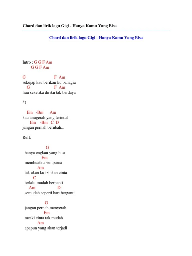 Chord Gigi Religi : chord, religi, Chord