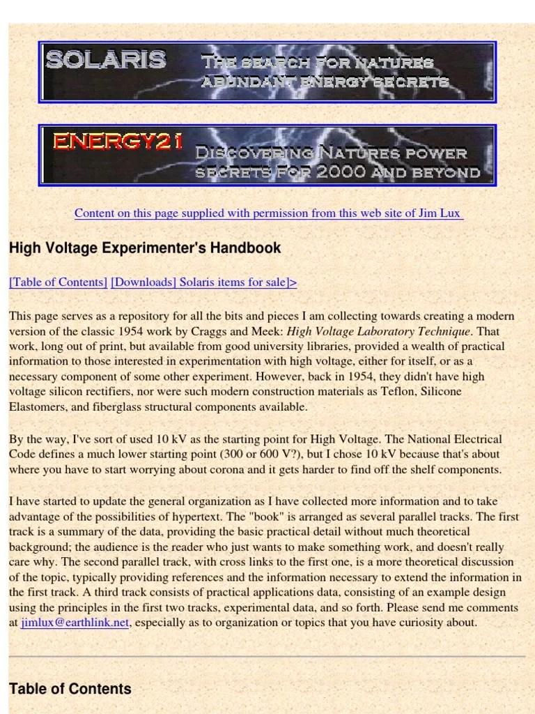 high voltage experimenters handbook ac power coaxial cable 1986 ford f 150 fuse box diagram 2005 ford f 150 solarix fuse box diagram [ 768 x 1024 Pixel ]