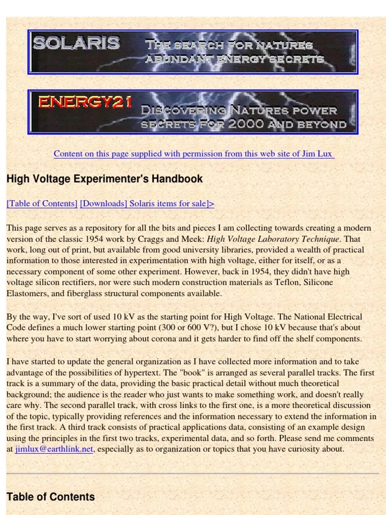 hight resolution of high voltage experimenters handbook ac power coaxial cable 1986 ford f 150 fuse box diagram 2005 ford f 150 solarix fuse box diagram
