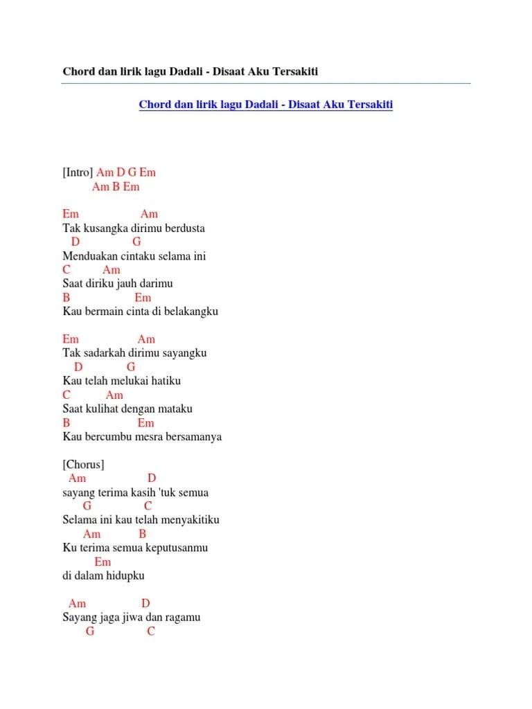 Lirik Lagu Dadali - KapanLagi.com