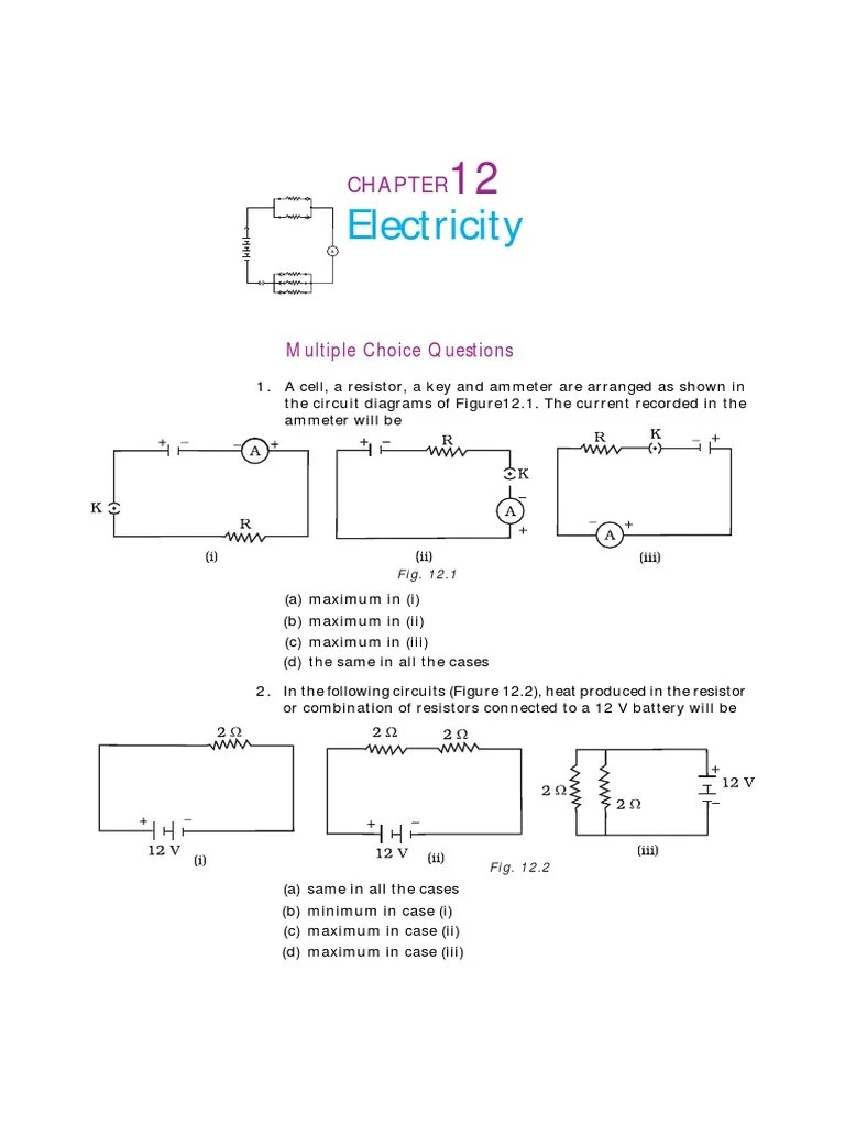 10 science exemplar chapter 12 series and parallel circuits electrical resistance and conductance [ 768 x 1024 Pixel ]