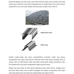 Kuda Baja Ringan Bentang 10 M Konstruksi Rangka Atap