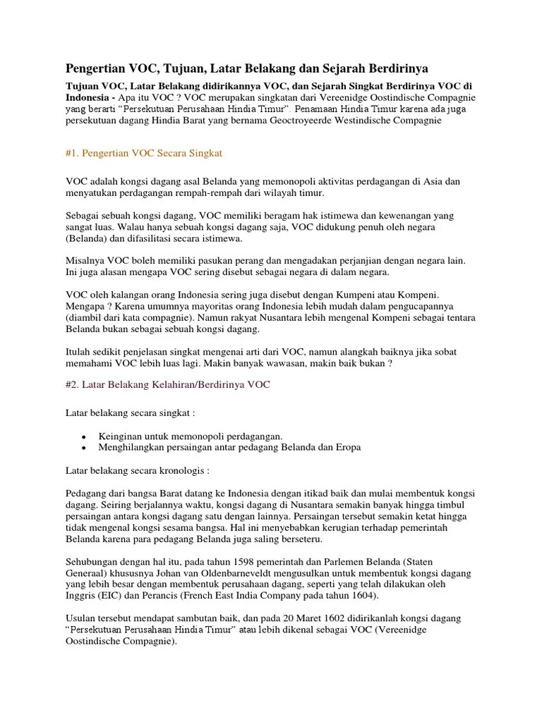 Sejarah Berdirinya Voc : sejarah, berdirinya, VOC.docx