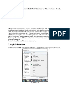 Cara Mengatasi Windows 7 Build 7601 This Copy Of Windows Is Not Genuine : mengatasi, windows, build, genuine, Mengatasi, Windows, Build, Genuine