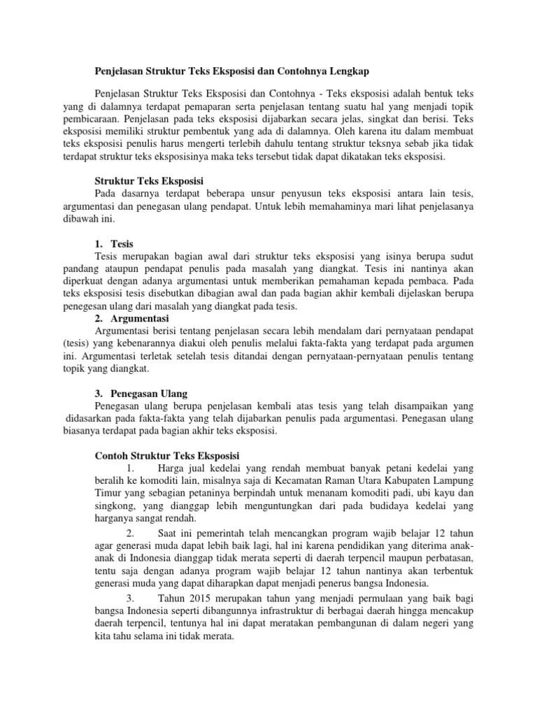 Struktur Teks Argumentasi : struktur, argumentasi, Contoh, Materi, Pelajaran, Tesis, Argumen
