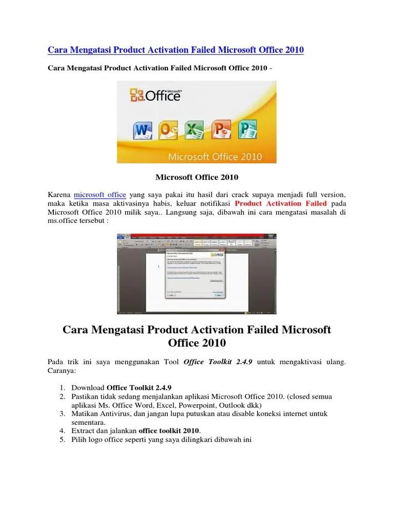 Cara Mengatasi Office 2010 Product Activation Failed : mengatasi, office, product, activation, failed, Mengatasi, Product, Activation, Failed, Microsoft, Office
