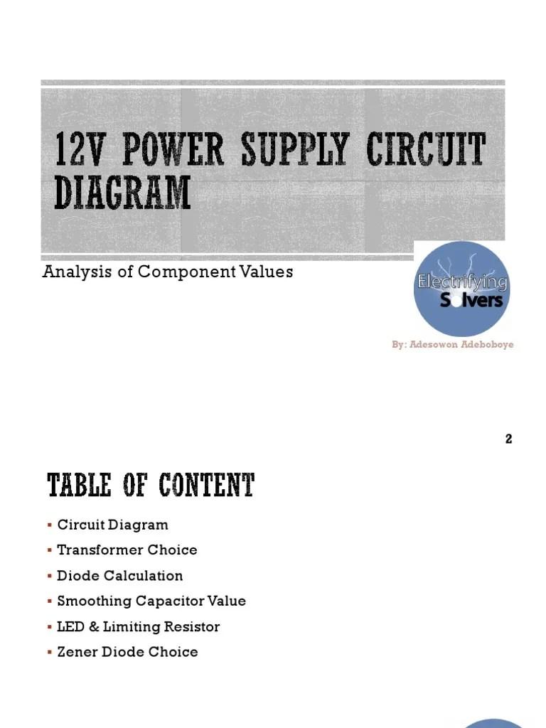 12v power supply circuit diagram rectifier light emitting diode 12v parallel wiring  [ 768 x 1024 Pixel ]