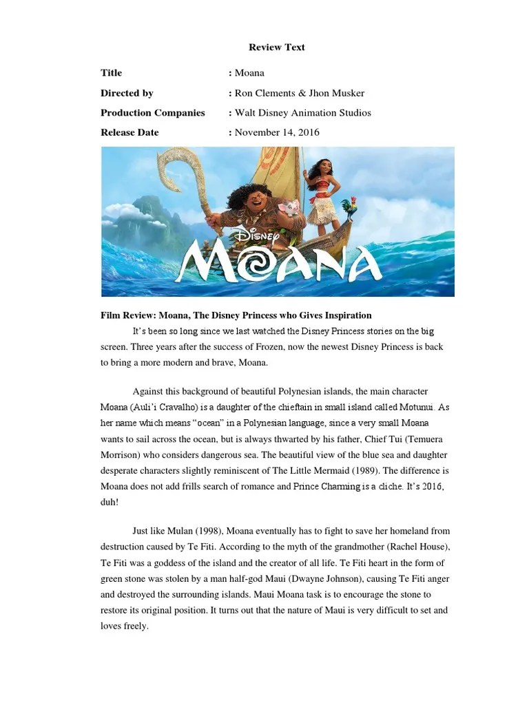 Contoh Review Text Film : contoh, review, Review, Moana, (2016, Film), Animation