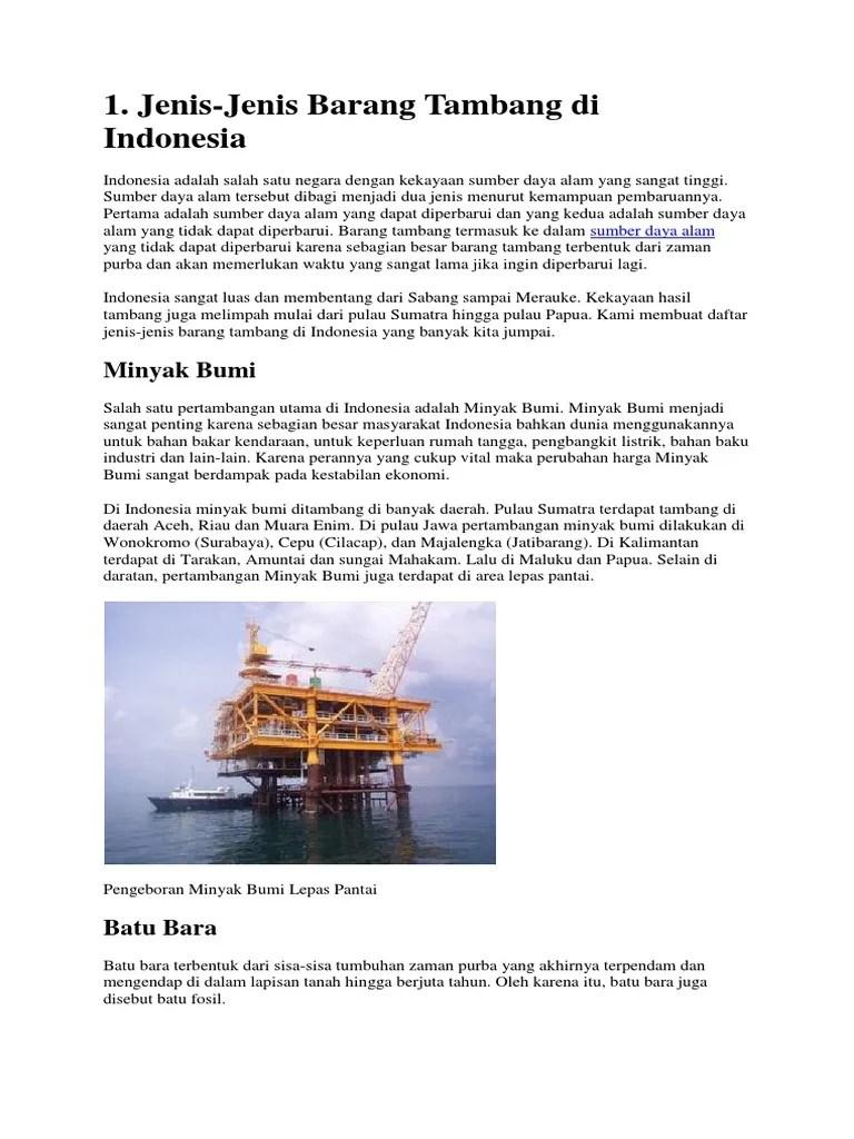 Barang Tambang Minyak Bumi : barang, tambang, minyak, Minyak, Merupakan, Jenis, Tambang, MIANYAK