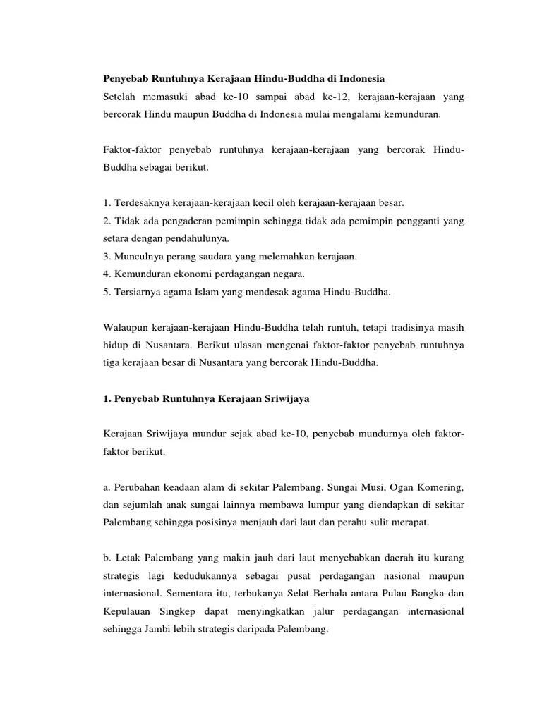 Faktor Penyebab Keruntuhan Kerajaan Sriwijaya : faktor, penyebab, keruntuhan, kerajaan, sriwijaya, Dododo