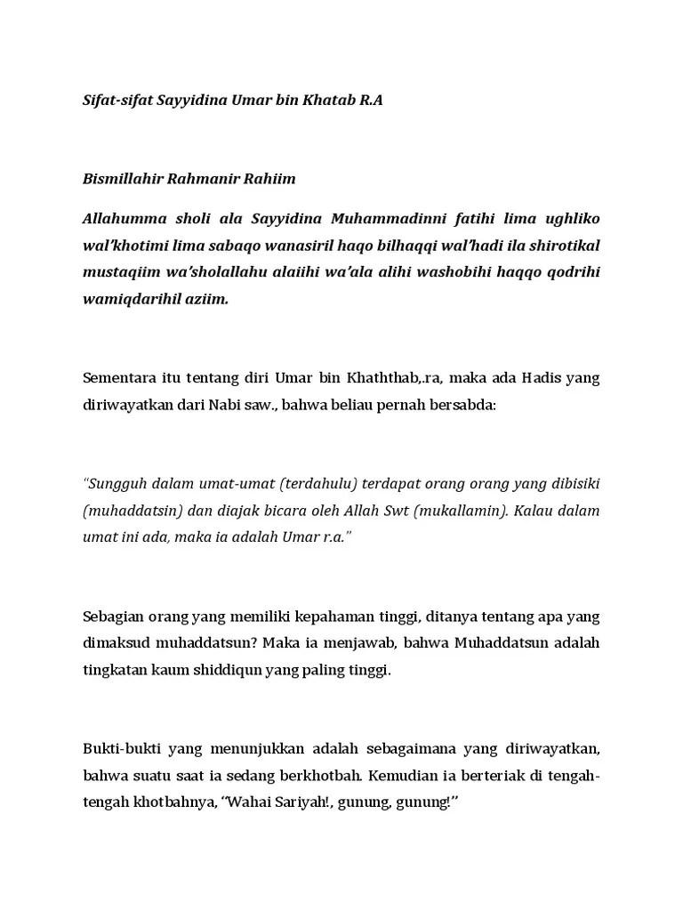 Sifat Teladan Umar Bin Khattab : sifat, teladan, khattab, Sifat, Sayidina
