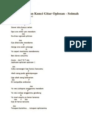 Kunci Lagu Dangdut Oplosan : kunci, dangdut, oplosan, Chord, Oplosan