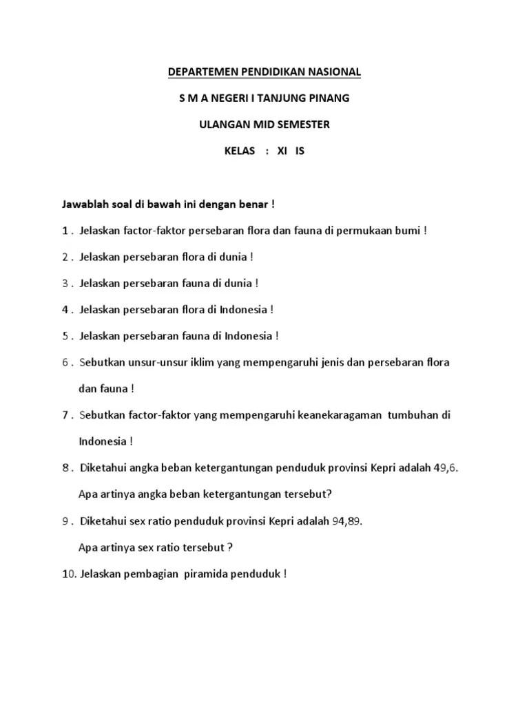 Sebutkan Faktor Yang : sebutkan, faktor, Sebutkan, Faktor, Mempengaruhi, Persebaran, Flora, Indonesia