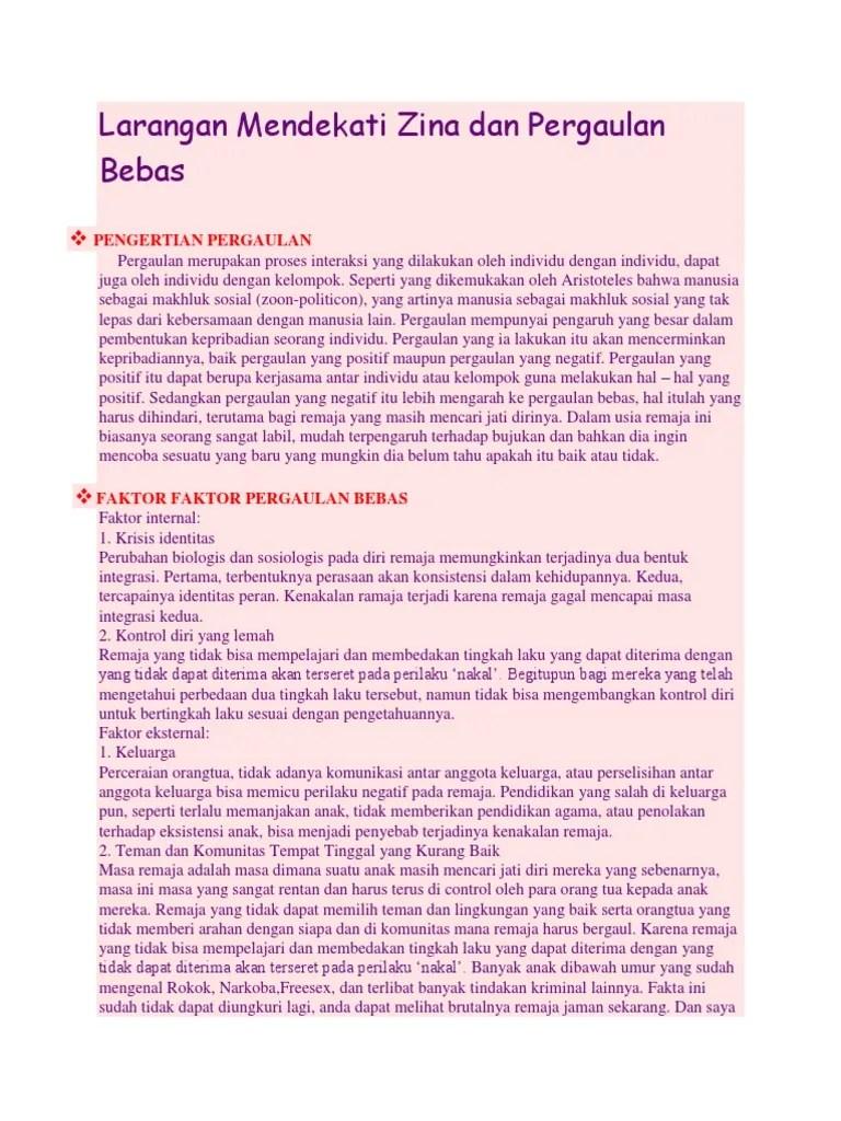 Hadits Tentang Larangan Zina : hadits, tentang, larangan, Hadits, Tentang, Larangan, Mendekati, Sumber