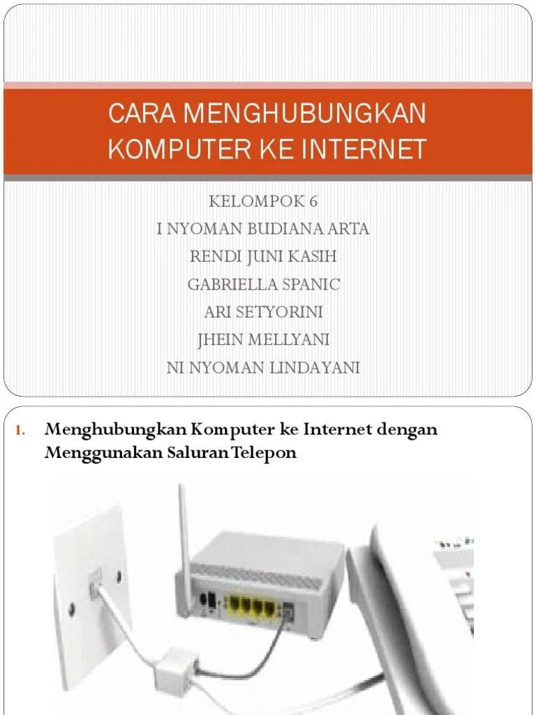 menghubungkan komputer ke internet