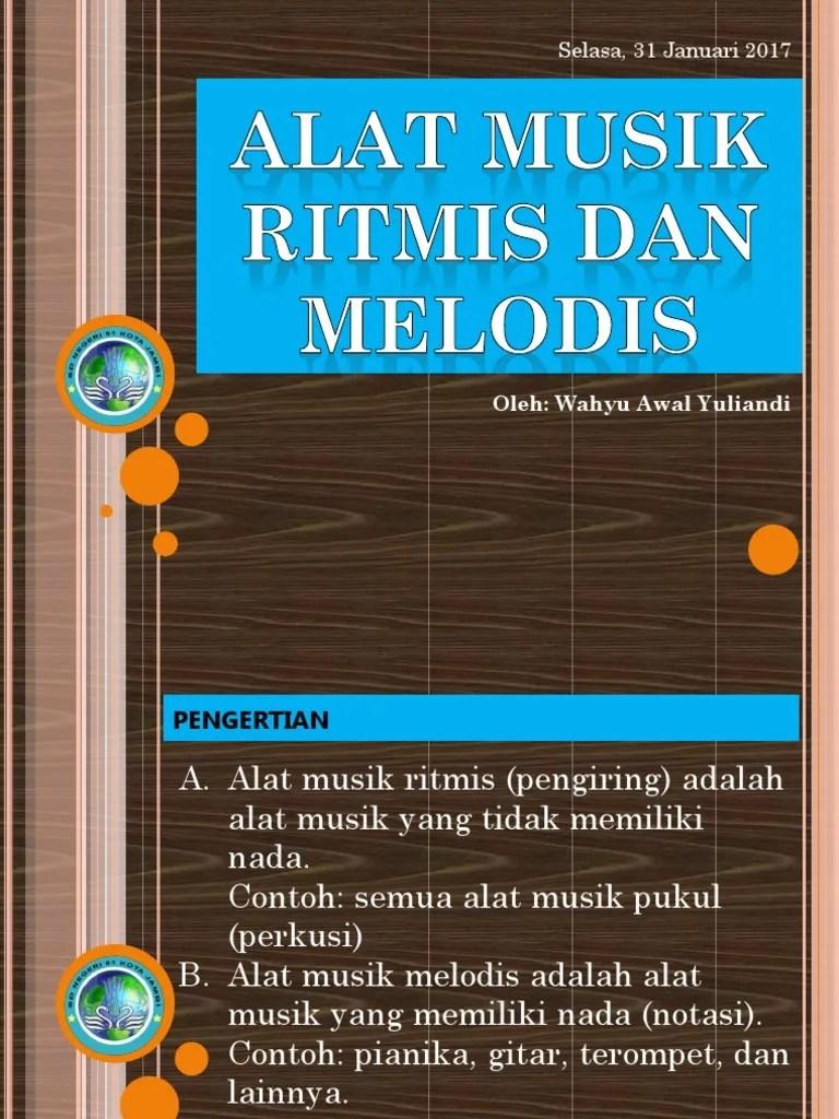 Pengertian Alat Musik Pianika : pengertian, musik, pianika, MUSIK, RITMIS, MELODIS.pptx