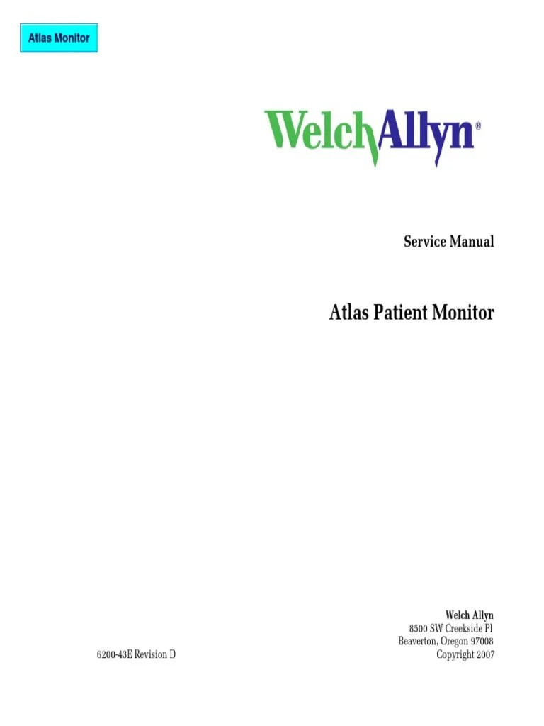 hight resolution of welch allyn atlas patient monitor service manual 2007 pdf electronic circuits amplifier