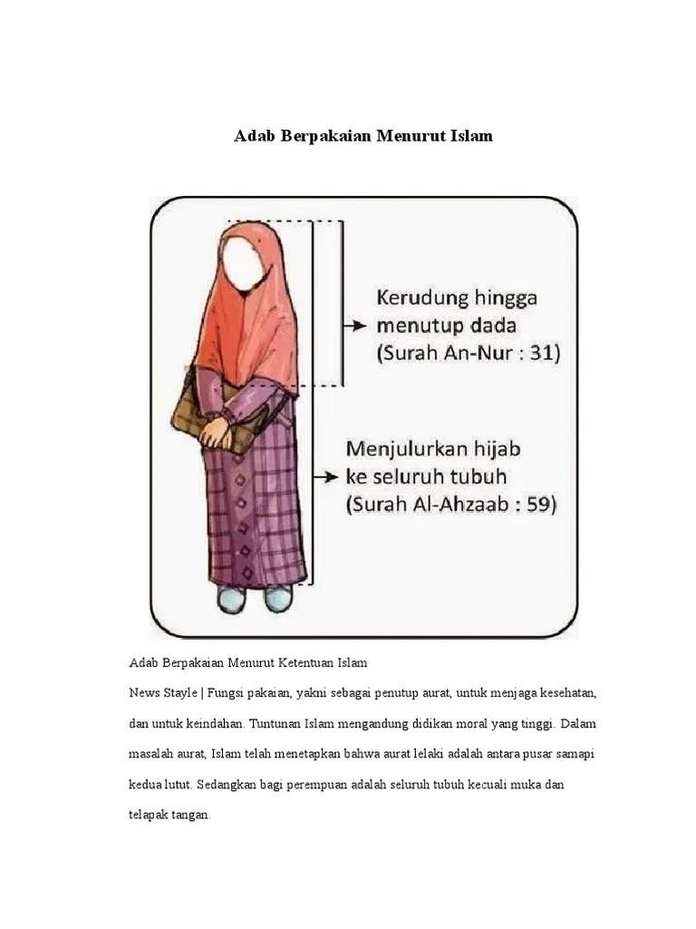 Fungsi Pakaian Menurut Syariat Islam : fungsi, pakaian, menurut, syariat, islam, Berpakaian, Menurut, Islam