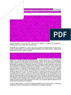 Action De In Rem Verso : action, verso, Actio, Renverso, Resaltada, Demanda, Judicial, Causa, Acción