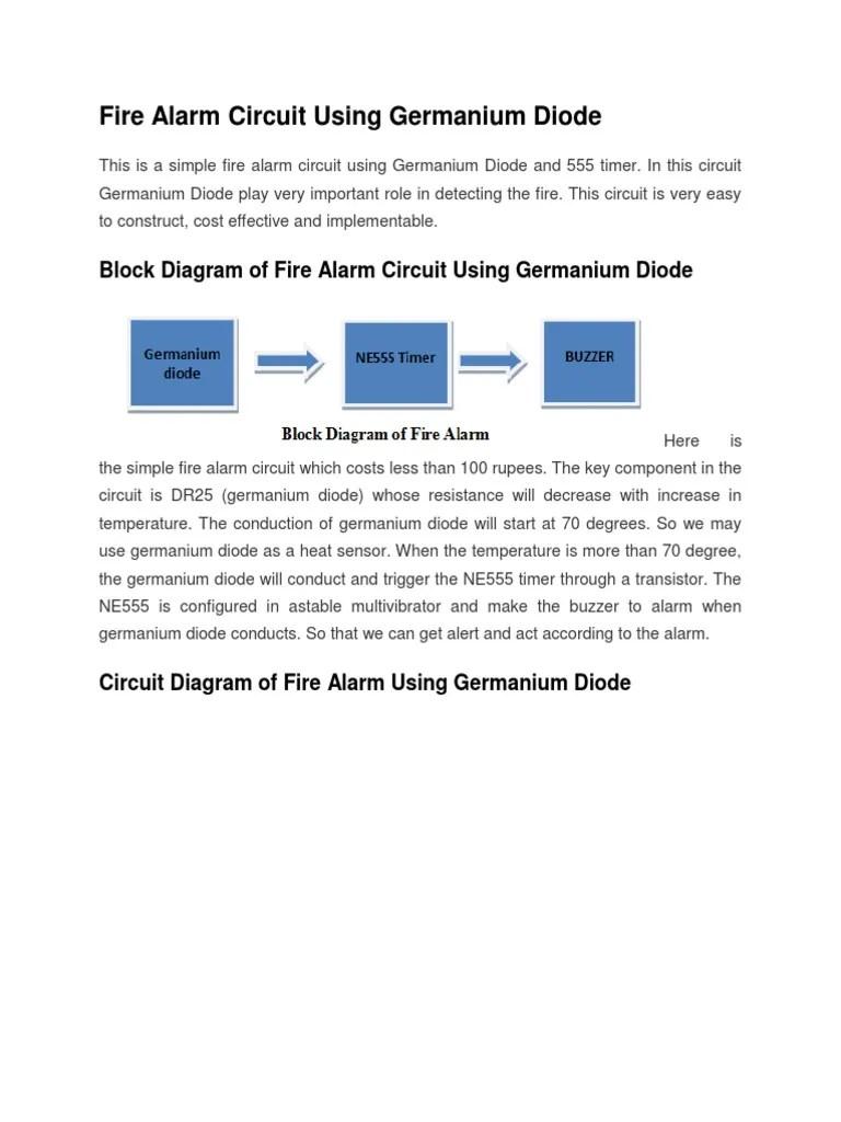 medium resolution of fire alarm circuit using germanium diode docx circuit diagram of fire alarm using germanium diode
