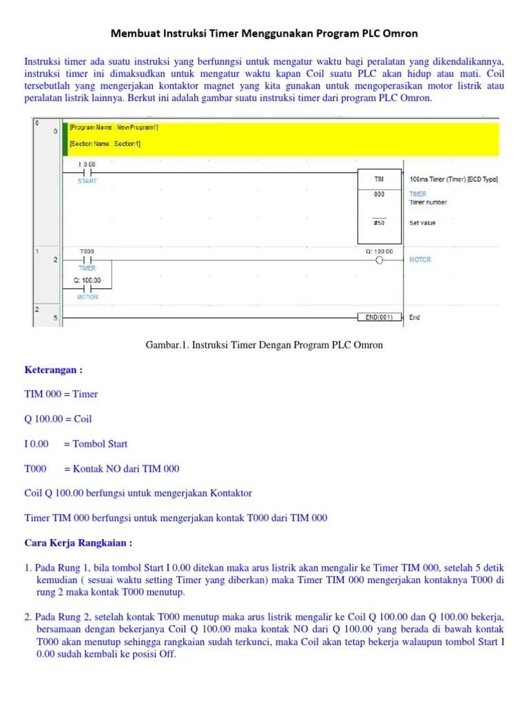 Cara Kerja Timer Omron : kerja, timer, omron, Membuat, Instruksi, Timer, Menggunakan, Program, Omron