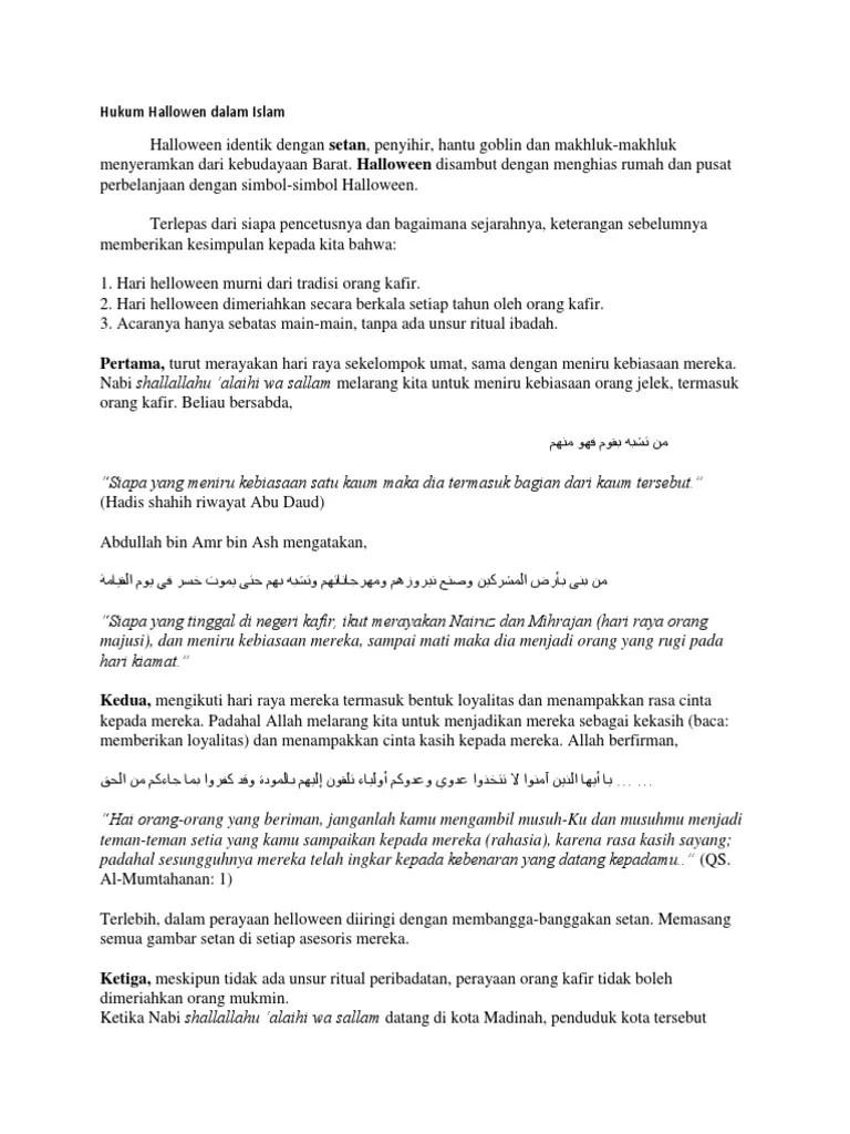 Halloween Menurut Islam : halloween, menurut, islam, Hukum, Hallowen, Dalam, Islam