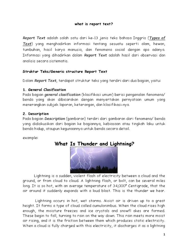 Contoh Report Text Singkat : contoh, report, singkat, Report, Complete, Lightning, Thunder