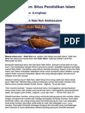 Kisah Nabi Nuh Lengkap : kisah, lengkap, Biografi, Lengkap, Lukisan
