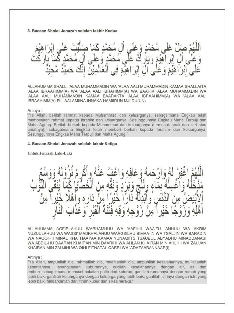 Doa Sholat Jenazah Laki Laki : sholat, jenazah, Bacaan, Sholat, Jenazah