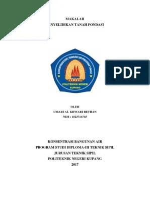 Logo Politeknik Negeri Kupang : politeknik, negeri, kupang, Makalah, Penyelidikan, Tanah, Pondasi, Politeknik, Negeri, Kupang