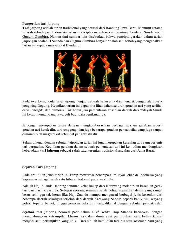 Keunikan Gerak Tari Jaipong : keunikan, gerak, jaipong, Pengertian, Jaipong
