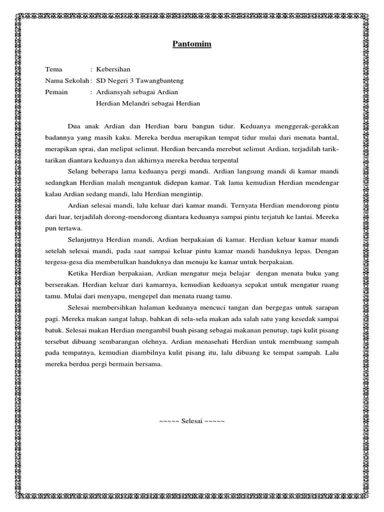 Contoh Naskah Pantomim : contoh, naskah, pantomim, Naskah, Pantomim